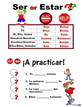 Ser and estar practice