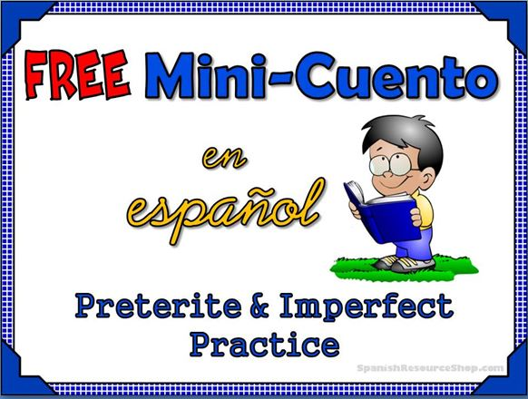 preterite, imperfect, free, cuento, translation