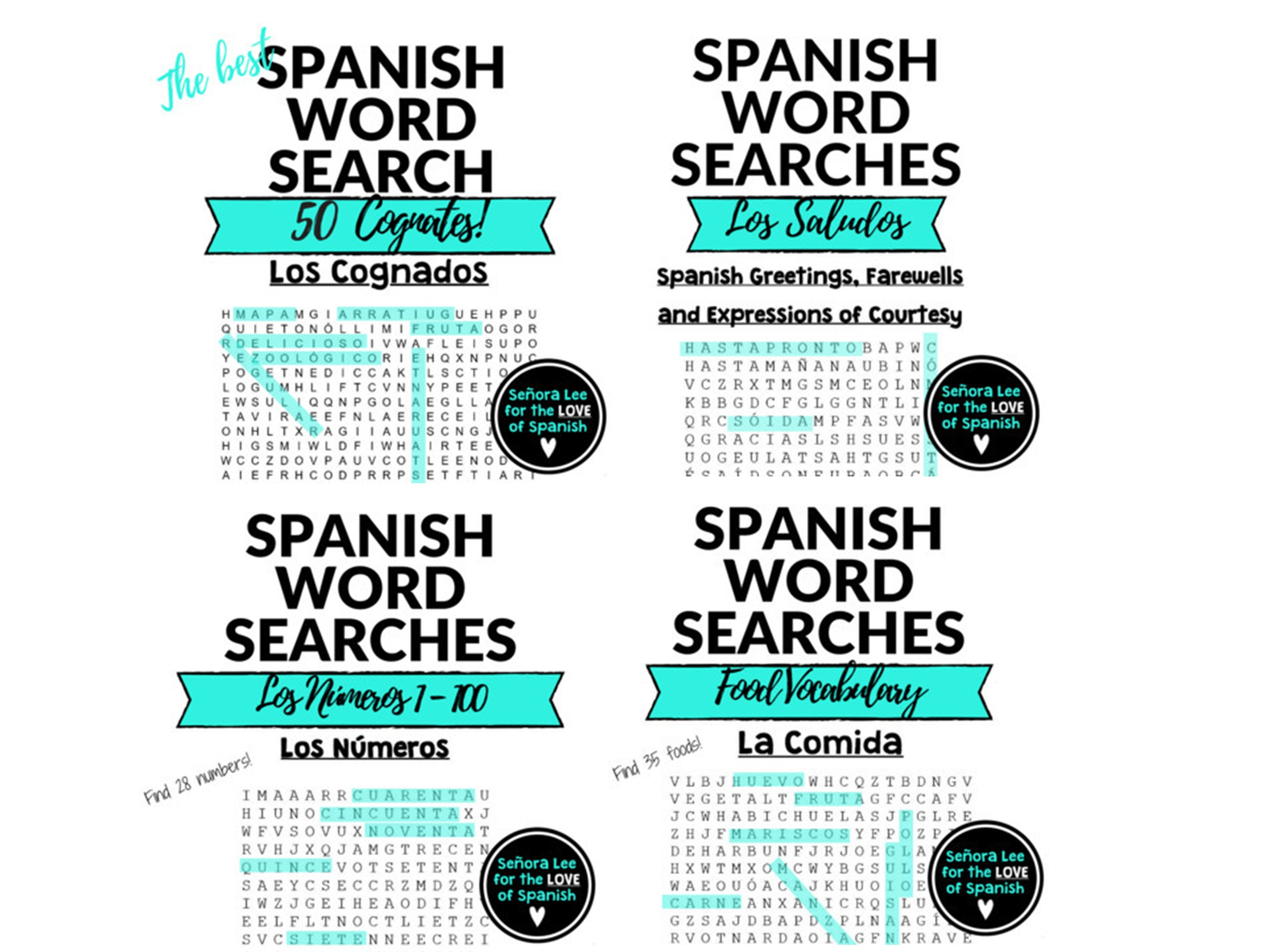Spanish, Word Search, Puzzles